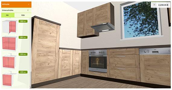 Küche planen online 3d küchenplaner