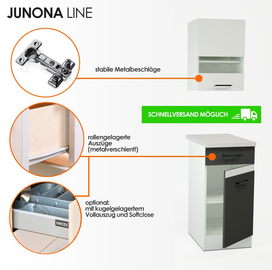 küchenkollektion - junona line | fiwodo.de ihr möbel-onlineshop - Küche Beschreibung