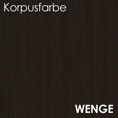 Frontfarbe (Massivholz) PLATE WENGE (Echtholz, Massivholz  -> Lowboard Wenge Weiß