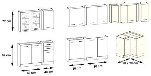 Küchen unterschrank ohne arbeitsplatte  Küchenset: L-Form Set OA - 12 Schränke ohne Arbeitsplatten ...