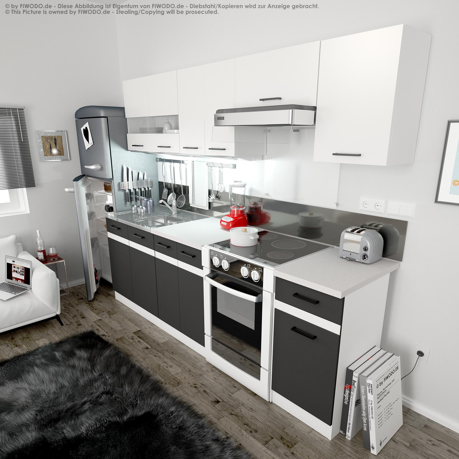 Berühmt Küche Lackfarben Weiß Schränke Weiß Geräte Ideen - Ideen Für ...