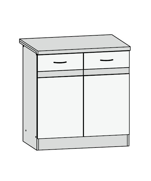 Küchenschrank: D2D/80/82 Unterschrank - Küchenkollektion Junona ...