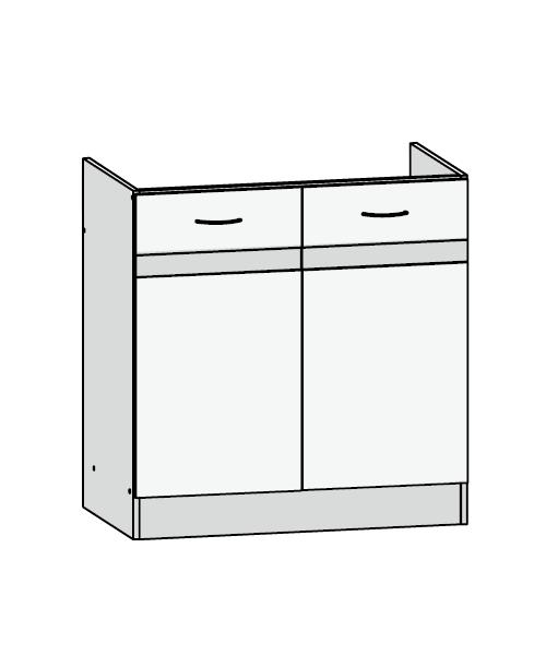 Küchenschrank: DK2D/80/82 Spülenunterschrank   Küchenkollektion Junona Line    FIWODO.de Ihr Möbel Onlineshop   Junona Line