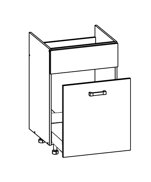 Küchenschrank: DKS-60/82-SB Spülenschrank mit Schub ... | {Küchen unterschrank landhaus 49}