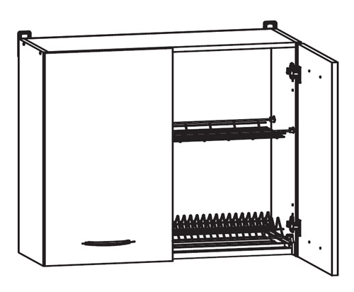 Küchenschrank NKGC8072LP mit Geschirrtrockner  ~ Geschirrtrockner