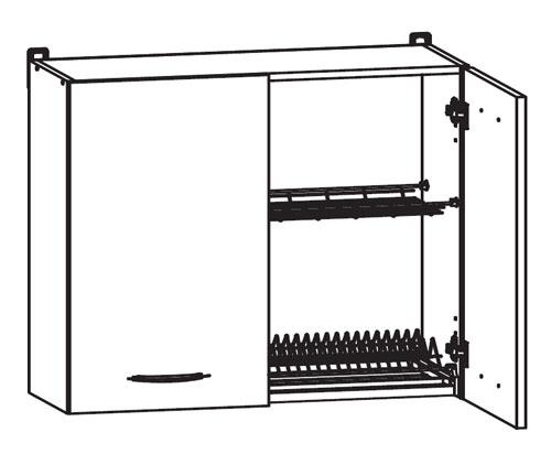 k chenschrank nkgc 80 72 l p mit geschirrtrockner. Black Bedroom Furniture Sets. Home Design Ideas