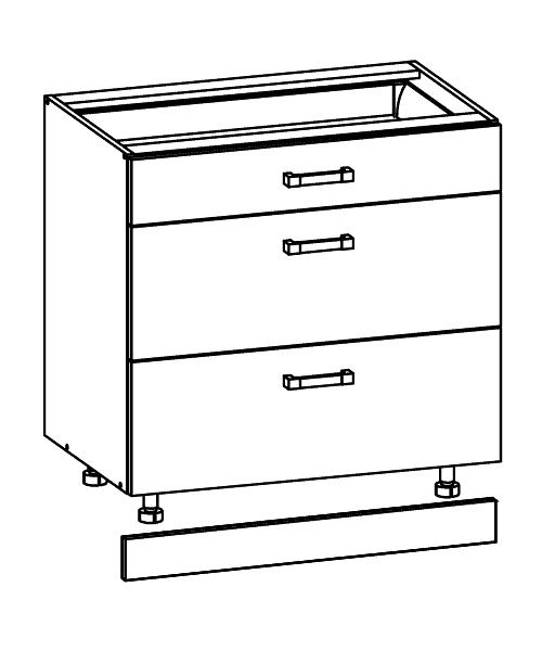 Küchen unterschrank ohne arbeitsplatte  Einbauküche Küche Küchenzeile 300cm - weiss hochglanz lackiert ...