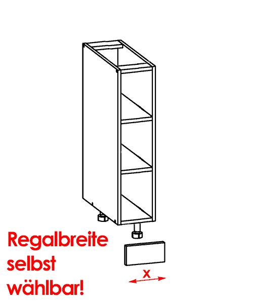 Küchenschrank: G-D-x/82-Regal (Breite wählbar!) - Küchenkollektion ... | {Küchenschrank weiß hochglanz 48}