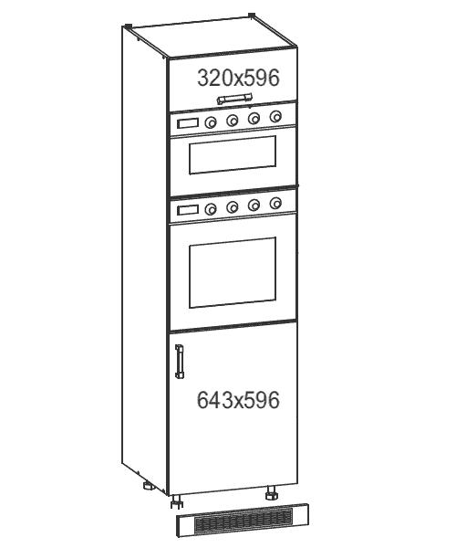 k chenschrank dlp 60 207 o ofen und mikrowellenschrank. Black Bedroom Furniture Sets. Home Design Ideas