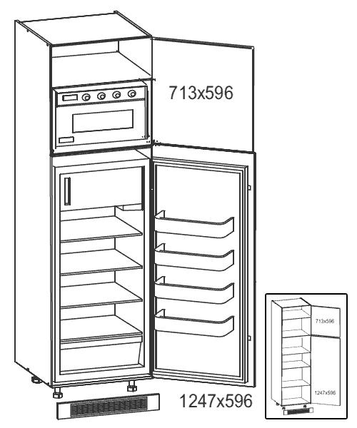 Vorratsschrank küche weiß  Küchenschrank: DLP-60/207-1K Kühlschrank- / Vorratsschrank ...