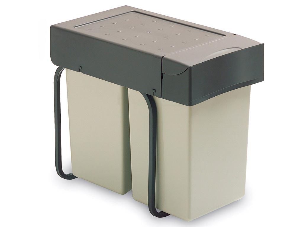 k chenzubeh r m lleimerauszug doppelt emuca 2 ausziehbar mit auto verschluss e ger te. Black Bedroom Furniture Sets. Home Design Ideas