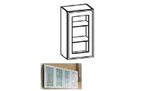 Küchenschrank: G-40/72-GV TAL2 MILO Vitrine mit Aluminium Rahmen ... | {Küchenschrank modern mit glas 43}