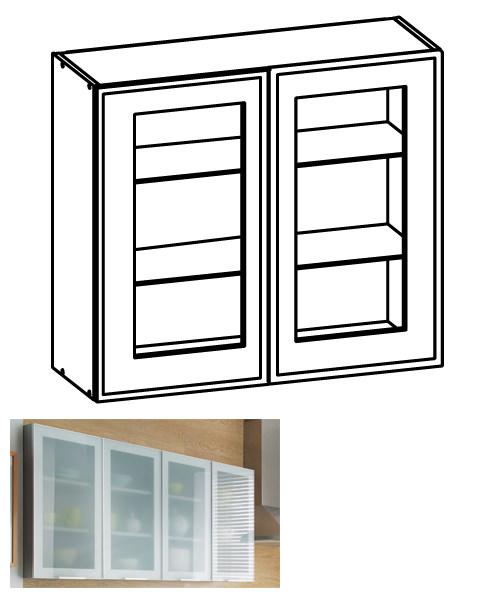 Küchenschrank modern mit glas