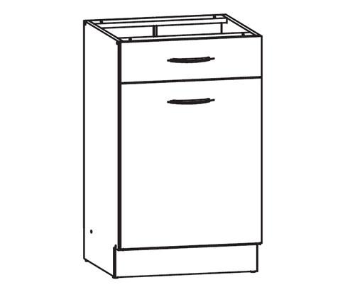 k chenschrank nkd1s 50 82 p s schubunterschrank. Black Bedroom Furniture Sets. Home Design Ideas