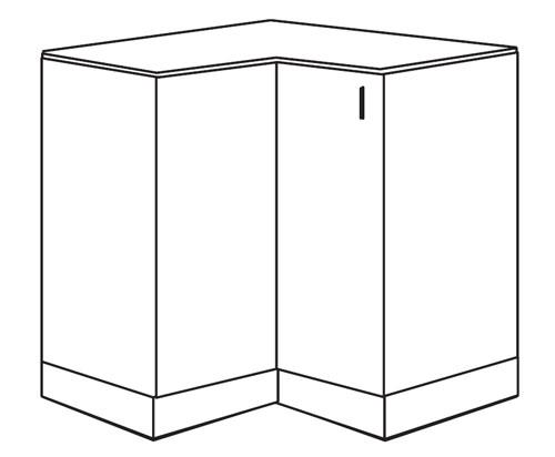 Eckschrank küche maße  Küchenschrank: NKDNW-90/82-P Eckschrank - 90 x 90 cm ...