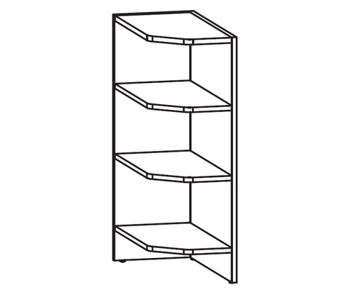 k chenschrank nkdnzl 30 82 abschlussregal links k chenkollektion nika ihr m bel. Black Bedroom Furniture Sets. Home Design Ideas