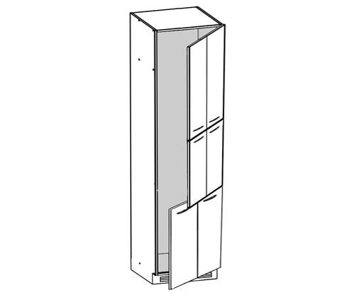 k chenschrank ksus 60 212 gr k hlumbauschrank. Black Bedroom Furniture Sets. Home Design Ideas