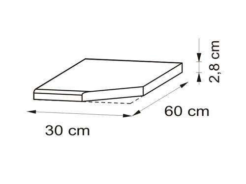 Arbeitsplatte: 30cm Eck-Arbeitsplatte Pietra Beige mit ... | {Küchenarbeitsplatte maße 28}