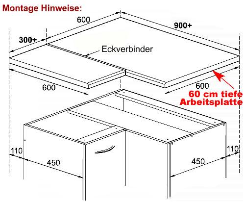 Ordentlich arbeitsplatte arbeitsplatten eckverbinder eckverbindungsleiste fx29