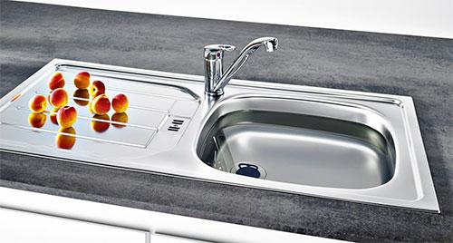 Küchenzubehör ETN 614 Einlassbecken ab 50cm Schrankbreite  ~ Spülbecken In Arbeitsplatte Einlassen