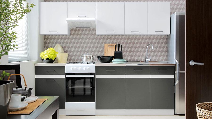 frontfarben anthrazit grau weiss k chenkollektion. Black Bedroom Furniture Sets. Home Design Ideas