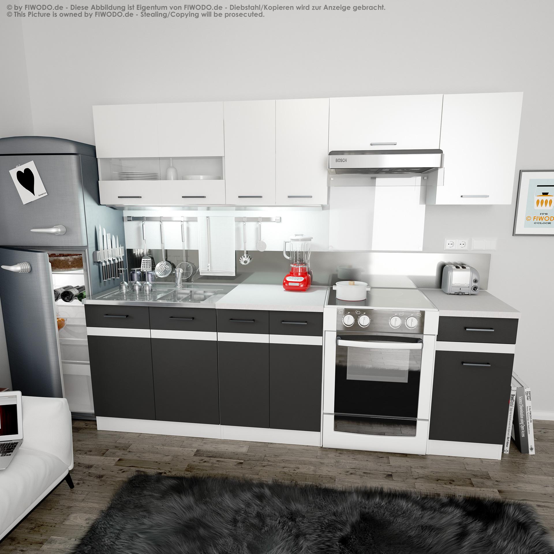 Frontfarben ANTHRAZIT GRAU / WEISS - Küchenkollektion ...