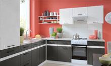 Frontfarben ANTHRAZIT GRAU / WEISS - Küchenkollektion Junona Line ...