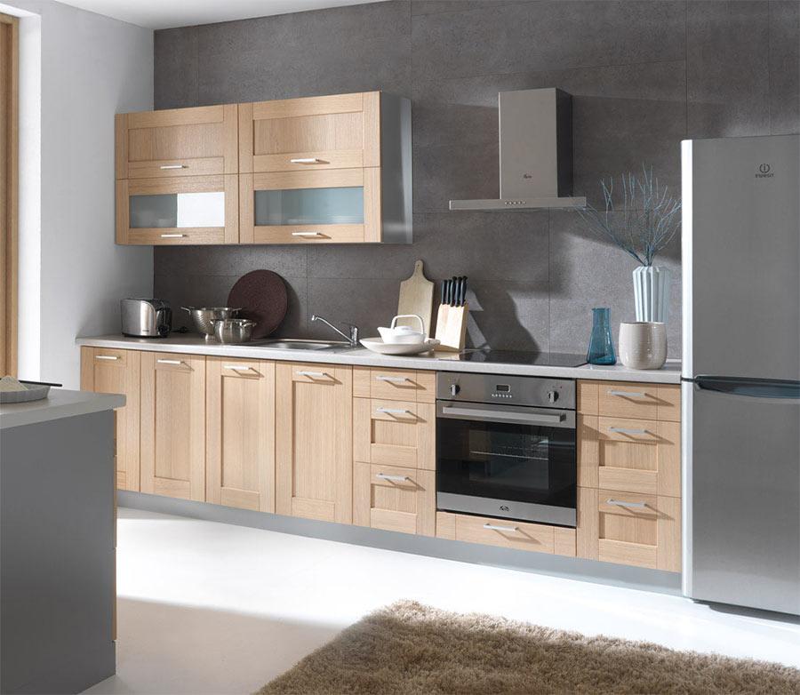 Attraktiv Küchen   Frontfarbe (aus Massivholz) PLATE EICHE (Echtholz)