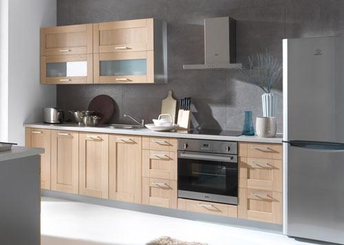 Wunderbar Küchenkollektion Modern Family Line Frontfarbe (aus Massivholz) PLATE EICHE  (Echtholz) Gallerie