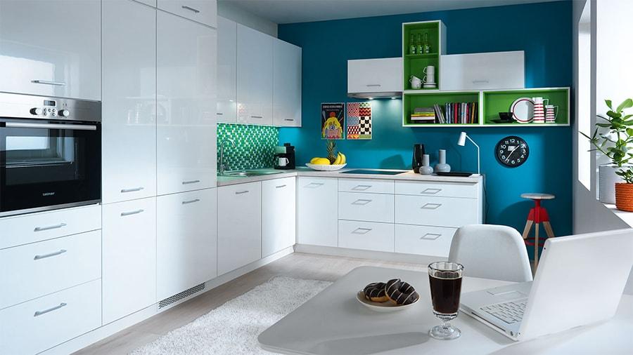 Frontfarbe TAPO WEISS (Hochglanz lackiert) - Küchenkollektion Modern ...