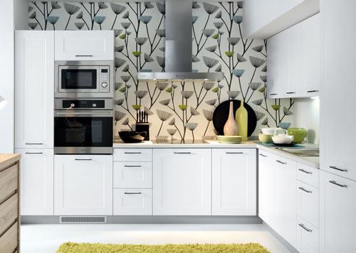 Küchenschrank modern  Küche Einbauküche Küchenzeile 300cm - modern weiss hochglanz ...