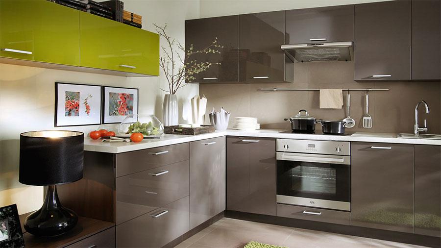 Frontfarbe TOP BRAUN (Hochglanz)   Küchenkollektion Modern Family Line |  FIWODO.de Ihr Möbel Onlineshop