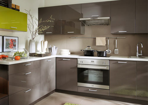 Küchen l form hochglanz  Einbauküche Küche Küchenzeile 300cm - weiss hochglanz lackiert ...