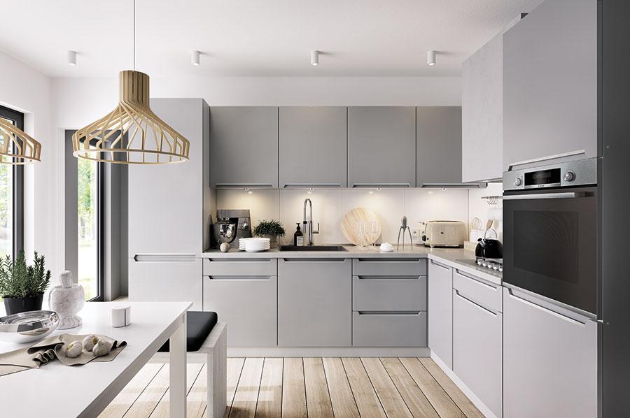 Frontfarbe IRIS FEROR GRAU (matt) - Küchenkollektion Modern Family ...