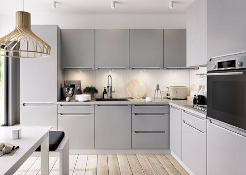 Exceptional Küche Günstig Frontfarbe IRIS FEROR GRAU (matt)