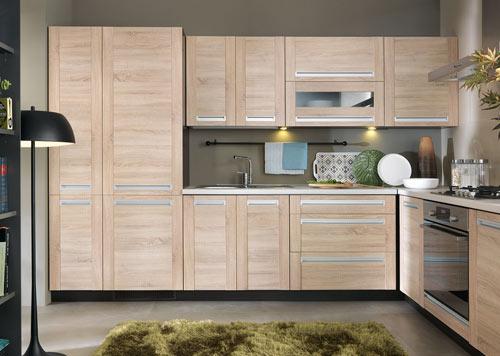 riesige Eck-Küche L-Form Einbauküche Beige NEUWARE sehr günstig ...