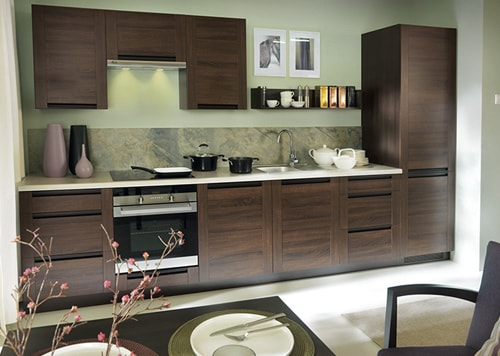 Küchenkollektion Modern Family Line Frontfarbe PESEN 2 EICHE DUNKEL Gallerie