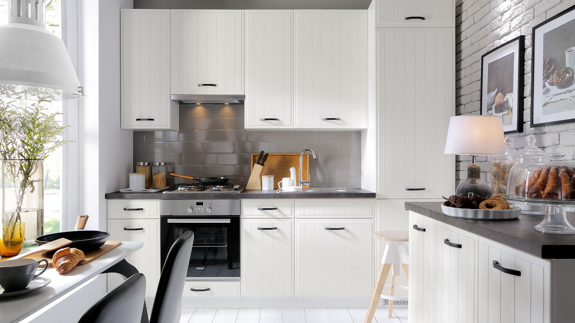 Küche DOMIN WEISS LANDHAUS - Küchenkollektion Modern ...