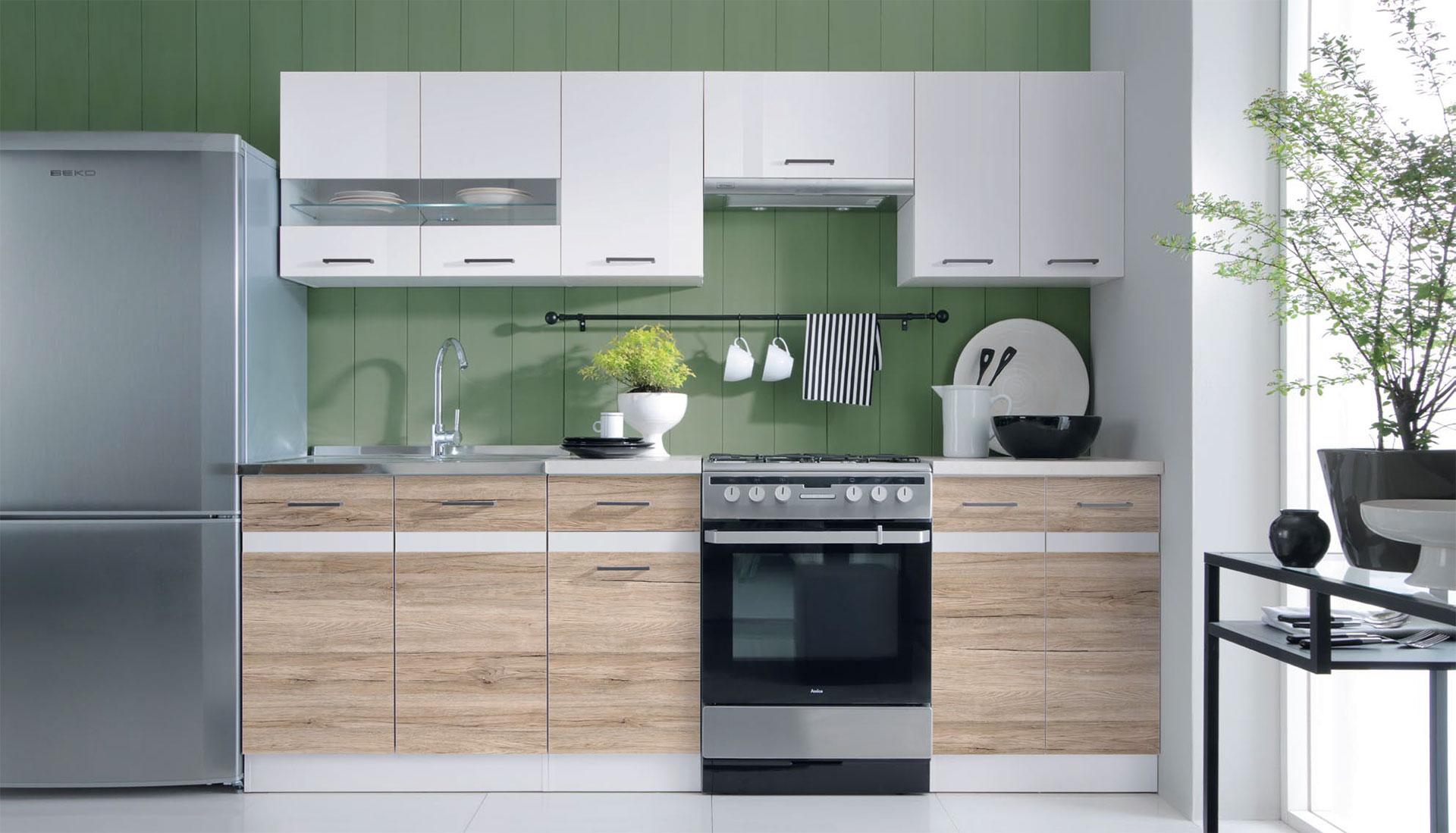 Küchen Frontfarbe SANREMO EICHE, WEISS - Junona Line | FIWODO.de Ihr ...